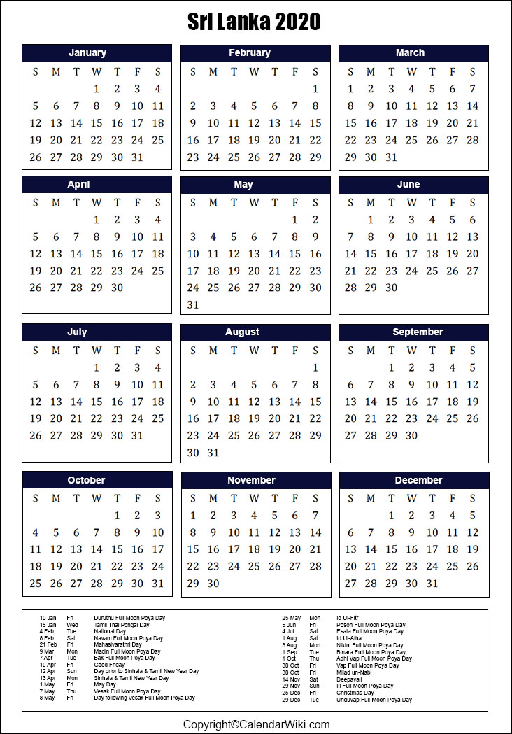 Government School Holidays 2020 In Sri Lanka | Anexa Wild