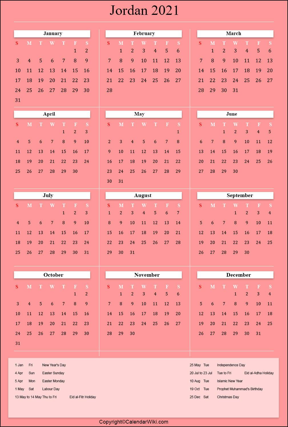 jordan holidays 2021