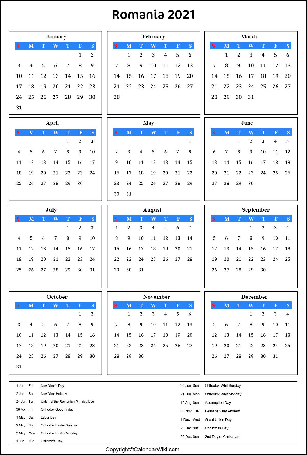 Calendar Pentru Anul 2023 Cu Sărbători In Romania Imprimați și Descărcați Calendarul